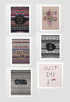 Art-print-typography-mixed-media-aztec-tribal-native-navajo-creative-how-to-creative-vasare-nar-urban-outfitters-dorm-print-for-sale-posters...