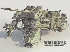 WALKER TANK mobile artillery by dangeruss