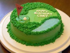 Brandy's Creations: Golf Cake.... I'm thinking of making this for my brothers birthday