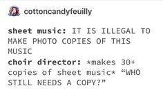 Stupid Funny Memes, Funny Relatable Memes, Funny Posts, Funny Stuff, Random Stuff, Funny Quotes, Hilarious, Choir Memes, Marching Band Memes