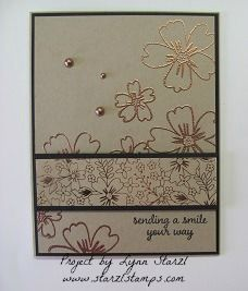 Heat Embossing on Pearls, Love & Affection stamp set by starzlmom28 - Cards and Paper Crafts at Splitcoaststampers