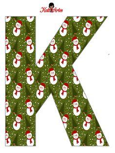 EUGENIA - KATIA ARTES - BLOG DE LETRAS PERSONALIZADAS E ALGUMAS COISINHAS: Natal - Alfabeto Boneco de Neve
