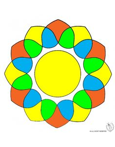 Disegno mandala 2 disegni da colorare e stampare gratis for Zentangle per bambini