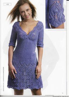 crochelinhasagulhas: Vestido de tricô