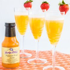 Aunty's Lilikoi Mimosa The perfect beverage for a holiday brunch, or great cocktail to bring in the new year!!
