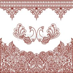 Mehndi Borders Royalty Free Stock Vector Art Illustration