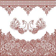 Mehndi Borders Royalty Free Stock Vector Art Illustration