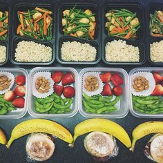 A photo posted by Meal Prep Society (@mealprepsociety) on Aug 30, 2015     at 12:25pm PDT  A healthy,full-day prep by @mscrystaljade  Breakfast:      * Turkey bacon & egg white sandwich on whole wheat English muffins with       a banana.  Snacks:      * Almonds, lightly salted edamame, and fruit.  Lunch:      * Orange ginger chicken stir-fry.  Tips for preparation:  I marinated [the stir-fry chicken]the night before with a low sodium/sugar  orange sauce in coconut oil and added some g...