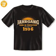Geburtstag Fun T-Shirt: Motiv: Aged in Perfection - 1996 18 Jahre lustiges witziges Geschenk Herren Shirt Funshirt Tshirt (*Partner-Link)