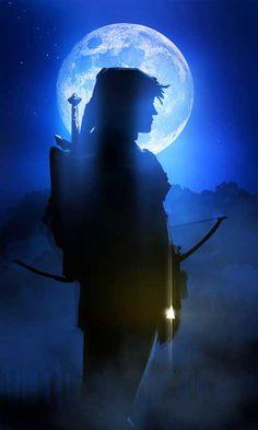 Hero of Time by *Espenartman...Oh my...full moon + Link? Nerdgasm!