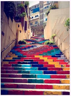 Beautiful Street art Using Public Steps