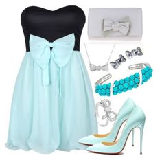 """""""Prom Dress With Bow"""" by deedee-pekarik ❤ liked on Polyvore"""