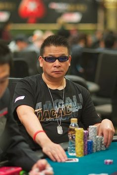 Johnny Chan.  Took guts for such a total champ to let himself get bluffed off a hand in 'Rounders.'