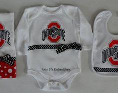 Ohio State Baby Set