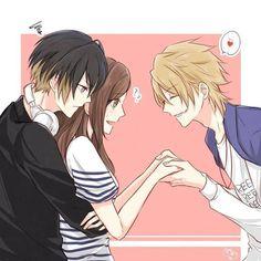 Manga/Texte anime in 2019 anime, anime couples und anime lov Anime Love Couple, Manga Couple, Anime Couples Manga, Cute Anime Couples, Anime Guys, Manga Anime, Couple Art, Anime Cosplay, Anime Love Triangle