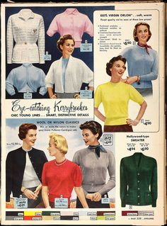 Orlon in the Sears catalogue, 1954 | Flickr - Photo Sharing!