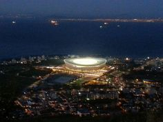 Cape Town stadium Cape Town, Homeland, Airplane View, South Africa, Celestial, Places, Outdoor, Outdoors, Lugares