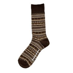White Mountaineering/BORDER PATTERN JACQUARD MIDDLE SOCKS