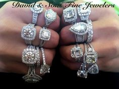 Engagement rings any design and diamond shape and color