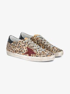 Golden Goose Deluxe Brand Superstar leopard print sneakers