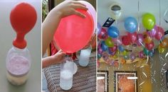 Trick To Inflate Floating Balloons Without Helium Incredible! Do It Now, It's A Great Idea If You Want To Decorate With Balloons! Kids Crafts, Diy And Crafts, Floating Balloons, Baby Party, Childrens Party, Birthday Decorations, Kids And Parenting, Diy For Kids, Party Time