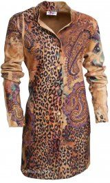 Fantazia Clothing Loretta Duster In Animal Print At Styles2you.com