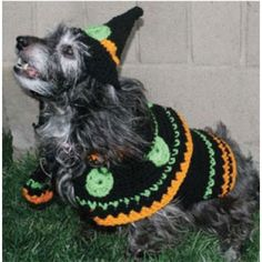 Free Dog's Witch Costume Crochet Pattern Download