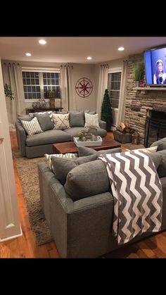 Living Room   Crate And Barrel Lounge Sofa II In Steel
