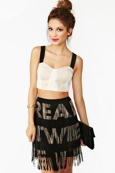 Moschino Fringe Mini Skirt