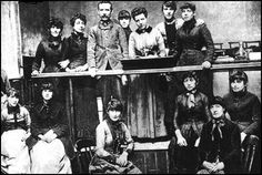 The Matchgirls Strike ~ Annie Besant and the Matchgirls Strike Committee. She discovered that the health of the women had been severely affected by the phosphorous that they used to make the matches. This caused yellowing of the skin and hair loss and phossy jaw, a form of bone cancer. The whole side of the face turned green and then black, discharging foul-smelling pus and finally death