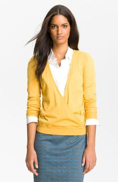 Halogen® Faux Wrap Sweater available at #Nordstrom