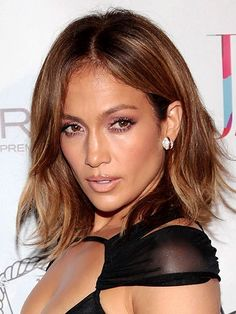 Jennifer Lopez Shorter, Fringed Cut