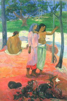 Paul Gauguin. Der Ruf. 1902, Öl auf Leinwand, 130 × 90 cm. Cleveland (Ohio), Museum of Art. Synthetismus. Frankreich. Postimpressionismus. KO 01377