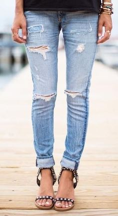 Sexy ripped jeans