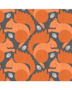 Squirrel Fabric Orange