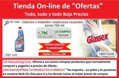 Devuelving Tienda Online y Comercio por Internet: Glassex Limpiador multiusos recambio spray 750 ml