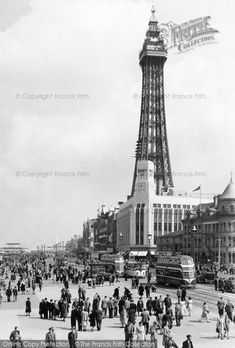 Photo of The Tower And Central Promenade Part of The Francis Frith Collection of historic photographs of Britain. Did you know you can browse the archive online today for free? Your nostalgic journey has begun. First Color Photograph, Blackpool England, Durham Museum, Nostalgic Images, British Summer, Seaside Resort, Out To Sea, Paris Skyline, Britain