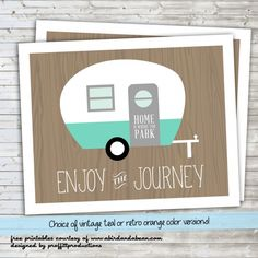 'Enjoy the Journey' Retro Camper :: Free Printable