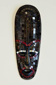 Whimsy Mask Mosaic Wall Art