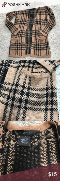 Brown & Black Cardigan This too is in perfect condition. I don't trade. 💕Buy two of my items and get one for free!💕 Happy Poshing! Sweaters Cardigans