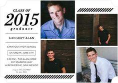 A stylish letterpress graduation party invitation.