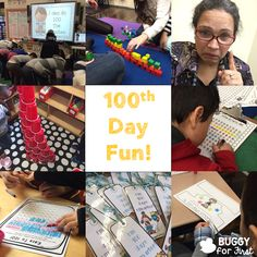 100th day of school fun for all!  The students love all the activities involving 100!