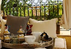 Tea on the terrace at Riad Cinnamon, Marrakech