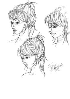 sketch april 2015 Fanny Bonenfant girl concept art