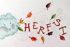 De blaadjes waaien je om de oren en de paraplu en sjaals kunnen weer van de zolder, het is Herfst!  Vandaar nr.19 van One-sketch-a-day, het is Herfst! #studiostift Bullet Journal And Diary, Bullet Journal October, Heart Journal, Fall Crafts, Diy And Crafts, Crafts For Kids, Hand Lettering Tutorial, Sketch A Day, Fall Diy
