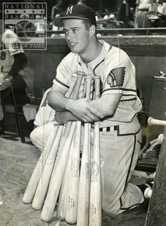 Eddie Mathews - Milwaukee Braves - third base -- my All Time favorite player