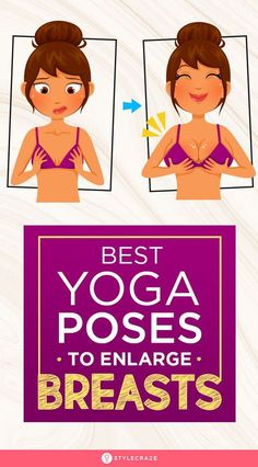 7 Best Yoga Poses To Enlarge Breasts: There are many products in the market such as oils, ointment, suction cups, surgery, etc. that help you gain a fuller bust but what yoga can do they cannot. Yoga stands out amongst all of them as the only means to inc Yoga Fitness, Planet Fitness Workout, Physical Fitness, Health Fitness, Fitness Exercises, Yoga Exercises, Morning Exercises, Fitness Games, Fitness Humor
