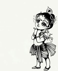 ☘❣❤ Cute Krishna, Krishna Art, Krishna Images, Radhe Krishna, Lord Ganesha, Lord Krishna, Shiva, Indian Gods, Indian Art