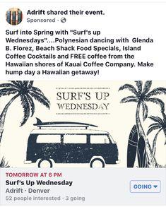 Surf's Up Wednesday's with Kaua'i Coffee and Ana The Traveling Dashboard Hula Gal  #kauaicoffeeco #adriftbar