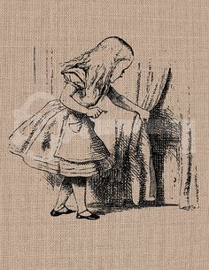 Alice finds the Door Digital Download Image by TanglesGraphics, $1.00